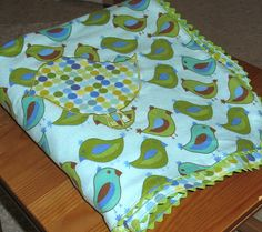Rick rack baby blanket