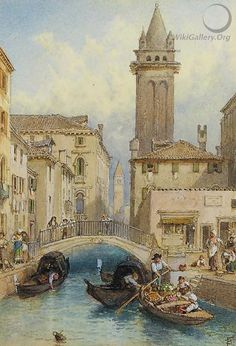 View from Ponte dei Pugni, Venice - Myles Birket Foster