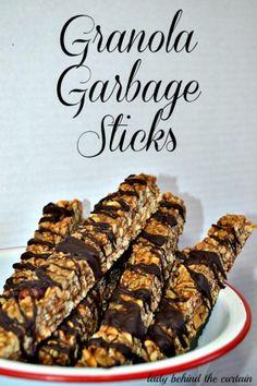 Granola Garbage Sticks