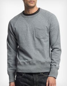 39dead618194 Todd Snyder x Champion Pocket Sweater: Heather Grey Trendy Fashion, Mens  Fashion, Fashion