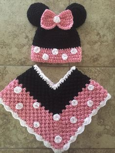 A personal favorite from my Etsy shop https://www.etsy.com/listing/246316592/minnie-poncho-hat