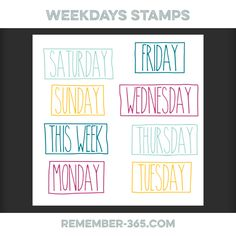 Quality DigiScrap Freebies: Weekday Stamps freebie from Remember 365