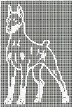 Gallery.ru / Фото #1 - собаки, схемы вышивок из интернета - poodel