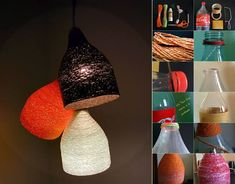 Here's the link to the tutorial >> DIY Designer Paper Yarn Lamp << by Instructables >>> More Creative Ideas