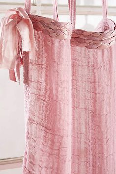 Cotton Tie-Top Curtain - anthropologie.com Tie Top Curtains, Lace Skirt, Anthropologie, Ballet Skirt, Skirts, Cotton, Shopping, Nursery, Products