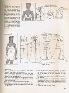 bustier+draft Underwear Pattern, Lingerie Patterns, Sewing Lingerie, Bralette Pattern, Bra Pattern, Frock Patterns, Dress Making Patterns, Clothing Patterns, Pattern Making