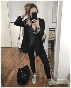 """5,606 mentions J'aime, 61 commentaires - Audrey Lombard (@audreylombard) sur Instagram: """"Tenue de retour au travail de Lundi dernier : tenue all black qui pour une fois traduisait bien mon…"""""""