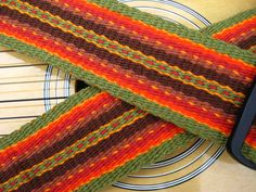 Flat Weave Archives - Page 4 of 8 - Weaver Guitar Straps - Play With Color! Inkle Weaving Patterns, Weaving Textiles, Tapestry Weaving, Loom Weaving, Loom Patterns, Weaving Process, Weaving Techniques, Inkle Loom, Card Weaving