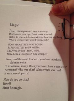 The magic of reading.