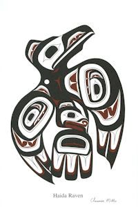 Native art for sale from the Pacific northwest coast of Canada. Arte Haida, Haida Art, Crow Art, Raven Art, Rabe Tattoo, Sketch Manga, Native Tattoos, Native American Symbols, Inuit Art
