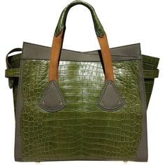 Beast of Burden Sheba Crocodile Tote ($6,175) ❤ liked on Polyvore