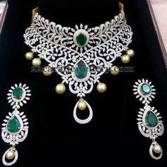 Grandeur and Unique Diamond Set - Jewellery Designs