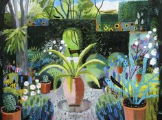 -Dog in the Garden-limited edition of 45- signed prints mounted size 81x69cms £395 framed £480