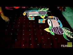 Pongal special to 5 dots. Easy Rangoli Designs Diwali, Indian Rangoli Designs, Rangoli Designs Latest, Simple Rangoli Designs Images, Free Hand Rangoli Design, Small Rangoli Design, Rangoli Border Designs, Rangoli Designs With Dots, Rangoli With Dots