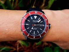 """Alpina Seastrong Diver 300 Automatic Watch Review - by Zach Pina - More on this tough diver from Alpina at: aBlogtoWatch.com - """"Earlier in the year, the new Alpina Seastrong Diver 300 Automatic was introduced with an admittedly over-dramatic video exhibiting an ice-climber making his way up a mountain to a snowy, high-alpine lake, cutting a hole in the ice and dropping in for a frigid, late-night swim. Now, as divorced from reality as the concept may seem..."""""""
