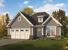 House Plan 95956 | Country Craftsman Traditional Plan with 1615 Sq. Ft., 2 Bedrooms, 2 Bathrooms, 2 Car Garage