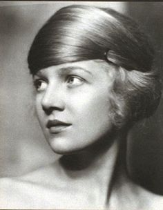 Hairstyle - actress Ann Harding, 1920s.
