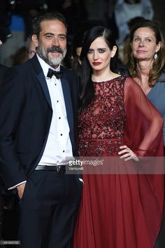 Jeffrey Dean Morgan and actress Eva Green attend the 'The Salvation' Premiere at the 67th Annual Cannes Film Festival on May 17, 2014 in Cannes, France.