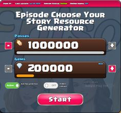 Free Gems and Passes — Episode Choose Your Story Cheats for Android and IOS Episode Choose Your Story Hack 2019 — Get Unlimited Free Passes and Gems Android-IOS Hack Episode Choose Your Story APK —. Episode Free Gems, Today Episode, Story Generator, Episode Choose Your Story, Play Hacks, App Hack, Free Episodes, Android Hacks