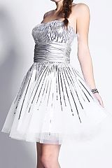 Silve Maid of Honor Dress