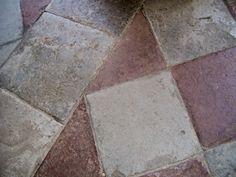 Floor tiles, Hampton Court, England