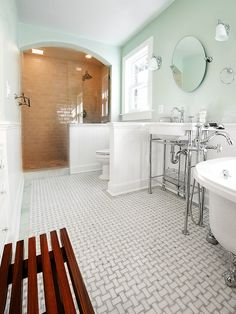 Depression Era Bathroom Tiles | Home with Keki / Interior Design Blog