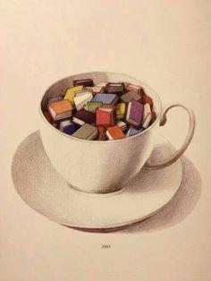Are books your cup of tea? a cup of a tea and a good book sure are! Tea And Books, I Love Books, Books To Read, My Books, Reading Books, Coffee Reading, Reading Library, Reading Art, Happy Reading