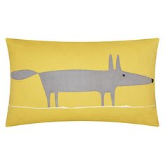 Buy Scion Mr Fox Cushion Online at johnlewis.comhttp://www.johnlewis.com/scion-mr-fox-cushion/p324789?colour=Grey%20/%20Yellow