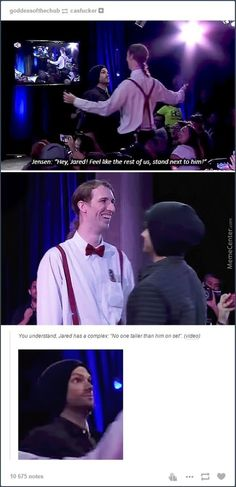 "I loved this part! ""Bill Nye"" was taller than Jared!!! Hahahaha!"