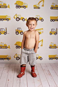 Little Builder Photo Backdrop