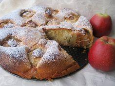 Ciasto z jabłkami napełnionymi masą orzechową i kajmakową   Smaki Weroniki