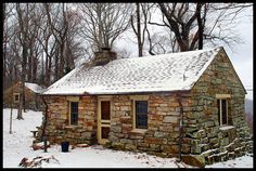 Cabins And Cottages: ccc stone cabins.And we have an agreement! Stone Cottages, Cabins And Cottages, Stone Houses, Log Cabins, Stone Cabin, Cute Cottage, Winter Cabin, Little Cabin, Cabin Plans