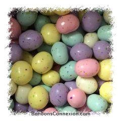 Easter speckled malted eggs - Yummy! Oeufs de Pâques maltés - Délicieux!  #eastercandy #bonbonspaques