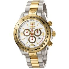 Invicta Men's Grand Speedway 4221 Silver Steel Two-tone Chronograph Watch