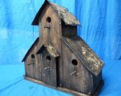 Rustic Ranch Birdhouse with antique ceiling tiles using reclaimed cedar.