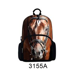 Felt  Horse Design Printing  Backpack for Men,Women, Kids
