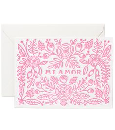 Letterpress Mi Amor - Rifle Paper Co.