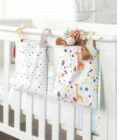 Mothercare I Love Sunshine Cot Pockets - cot tidy & storage baskets - Mothercare