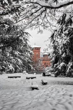 Torino. Parco del Valentino sotto la neve  ✈✈✈ Don't miss your chance to win a Free Roundtrip Ticket to Turin, Italy from anywhere in the world **GIVEAWAY** ✈✈✈ https://thedecisionmoment.com/free-roundtrip-tickets-to-europe-italy-turin/