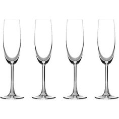 Cuisinart - Classic Collection Champagne Glass (4-Pack) - White