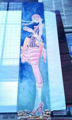 Esta chica se metió en el horno de vitrofusión y la ´próxima imagen es el resultado final