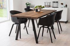 Billedresultat for plankebord Black Dining Room Furniture, Luxury Dining Room, Dining Room Lighting, Dining Room Design, Dining Nook, Dinning Table, Kitchen Seating, Kitchen Dining, Home Decor Bedroom