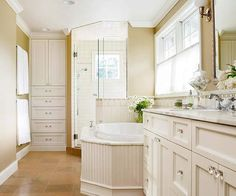 Small Bathroom Design Ideas - Tips and a before & after look at decorating a small bathroom space. Budget DIY ideas to make your bathroom look fabulous! Best Bathroom Colors, Bathroom Color Schemes, Neutral Bathroom, Master Bathroom, Colorful Bathroom, Shower Bathroom, Classic Bathroom, Modern Bathroom, Cream Bathroom
