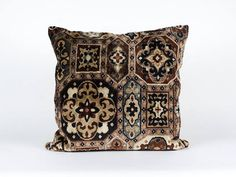 Luxury Brown Velvet Pillow Cover mid century pillow