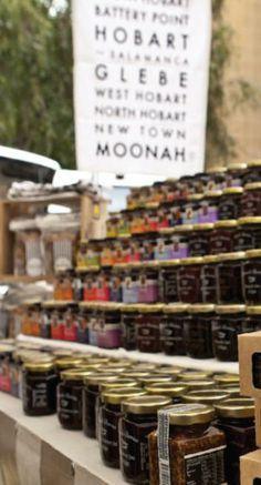 Salamanca Markets - homemade preserves and jams - Tasmania