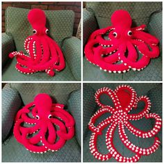 Vanessa Mooncie Octopus from her book Crocheted Sea Creatures: A Collection of Marine Mates to Make.  Adjusted bottom of tentacles to be more realistic.