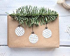 miss red fox: DIY - 9 schöne und wirkungsvolle Verpackungen für Weihnachtsgeschenke mit Packpapier und einfachen Materialien