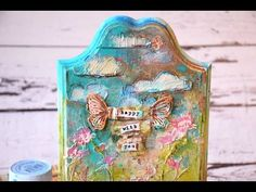 Mixed media plaque by TandiArt