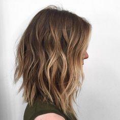 Ombre, Wavy Lob Hair Cuts - Shoulder Length Hairstyles for Women                                                                                                                                                      More