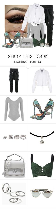 """""""Midnight 🌝💫✌🏾️"""" by mrs-brown-carter ❤ liked on Polyvore featuring Faith Connexion, TIBI, WearAll, Christian Louboutin, Forever 21, Marc Jacobs, Jean-Paul Gaultier, MANGO and Chicnova Fashion"""